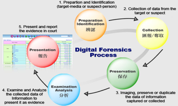 5 steps in a process to collect digital evidence essay Successful, high quality crime scene investigation is a simple, methodical process it is not rigid it follows a set of principles and procedures that are reasonable and ensure that all physical evidence is discovered and investigated with the result that justice is served the basic crime scene procedures are physical evidence recognition.
